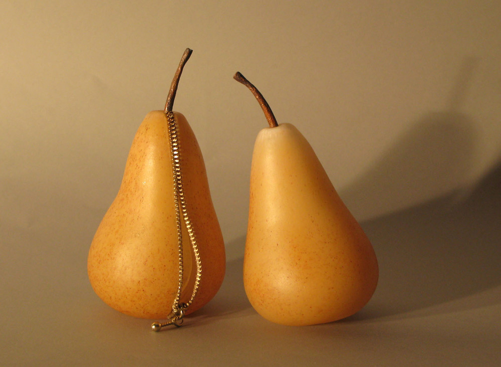 2 pears 1 zipper - Glass