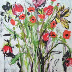 Anemones Flowers - Lithograph - 25.5 x 19.5 inches
