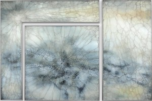 Asimi Kerma   Mixed media on glass   40 x 61 inches