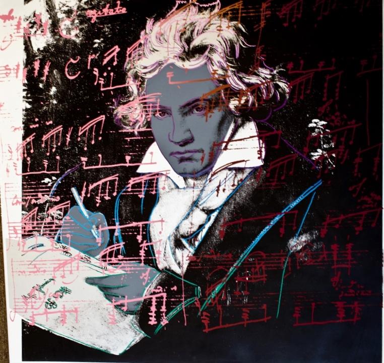 Beethoven - SIlkscreen - 40 x 40 inches