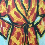 Black Ink Robe - Lithograph - 25.5 x 19.5 inches