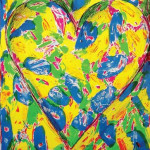 Blue Heart - Lithograph - 25.5 x 19.5 inches