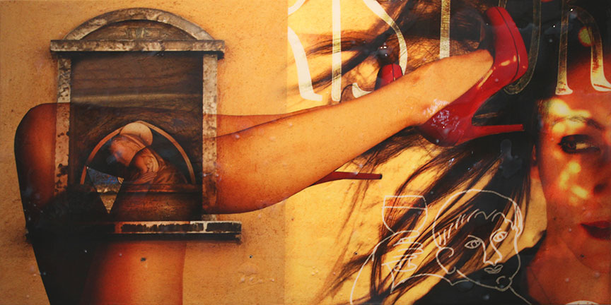 Cellebration - Mixed media on panel - 24 x 48 inches