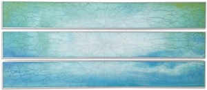 Ceto 3 StripesMixed media on glass29 x 86 inches
