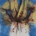 Flowered Bathrobe with Blue Sky