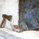 La Mala Intenlion  Watercolor on paper  38 x 50.5 inches