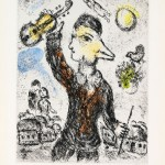 Le Violiniste - Aquatint etching - 30.6 inches x 23.8 inches