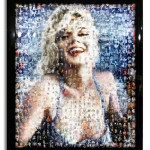 Marilyn on the Beach - Mixed media - 65 x 55 inches