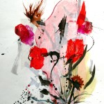 My Wild Garden #12  Mixed media on paper 30 x 22 inches