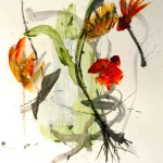 My Wild Garden #20  Mixed media on paper 30 x 22 inches