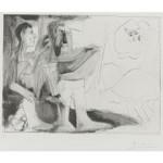 Peintre Au Travail - Etching - 12.5 x 16.5 inches