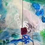 The Sea Within  Mixed media on canvas  72 x 120 inches