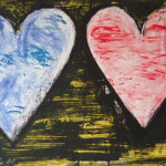 Two Hearts in a Sunset - Lithograph - 25.5 x 19.5 inches