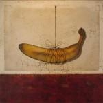 Suspended banana