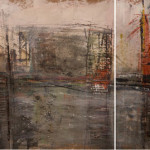 """276""""x36"""" 4 panels, Mixed mediapaper mounted on wood"""